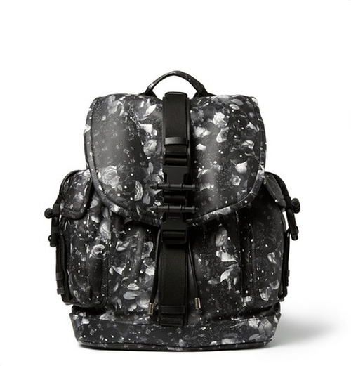 Camo Flower-Print Leather Backpack by Givenchy in Ballers - Season 1 Episode 10