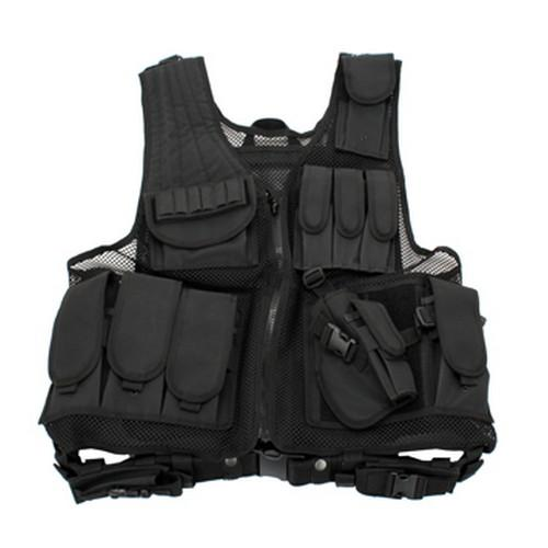 BLACK DELUXE TACTICAL VEST by GALATI GEAR in Sabotage
