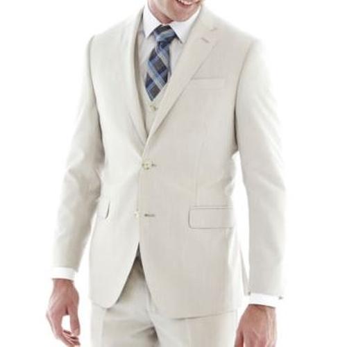 Regular Fit Bone Suit Jacket by J.F. J Ferrar in Crazy, Stupid, Love.