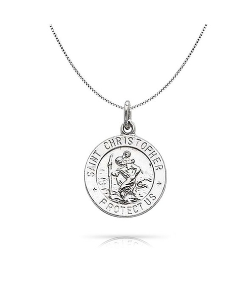 Saint Christopher Medal Charm Pendant Necklace by Bling Jewelry in Grease