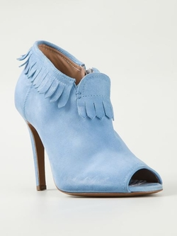 Fringed Peep Toe Booties by Raparo in Pretty Little Liars