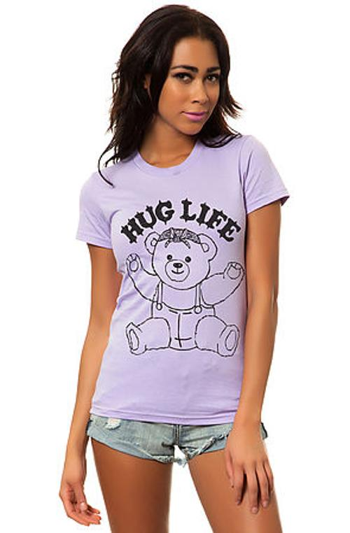 The Hug Life Tee in Lavender by Local Celebrity in Ouija