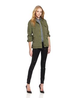 Women's Ruby Army Jacket by Velvet by Graham & Spencer in The Purge: Anarchy