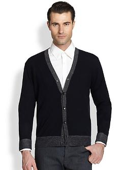 Goldsmith Sovereign Wool Cardigan by Theory in Jersey Boys