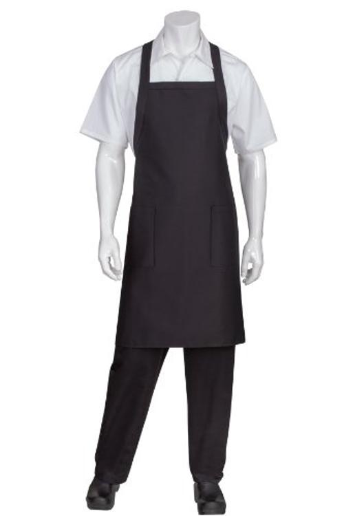 F35 Cross-Back Bib Apron, Black by Chef Works in Ride Along