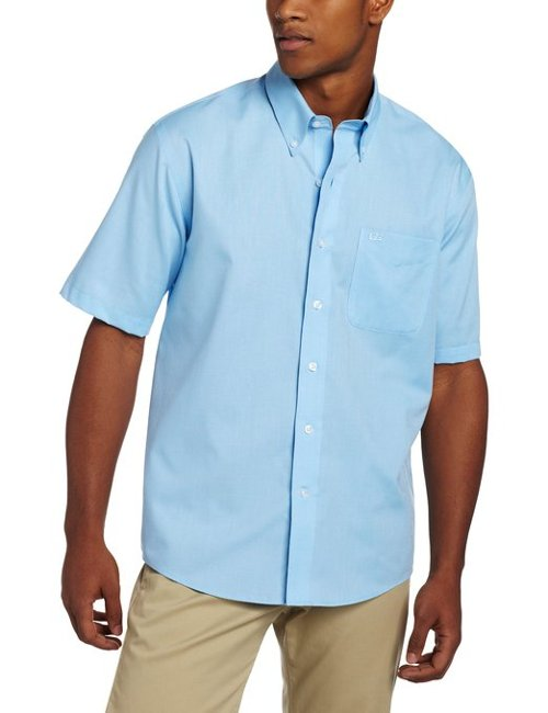 Men's Short Sleeve Epic Easy Care Nailshead Shirt by Cutter & Buck in The Gambler
