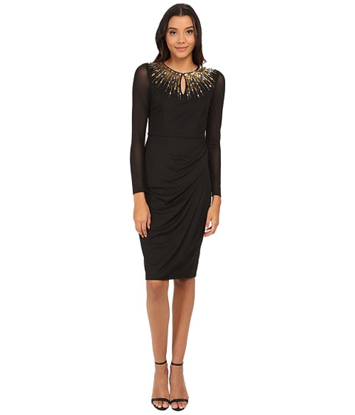 Chiffon Embellishment Sheath Dress by Maggy London in American Horror Story