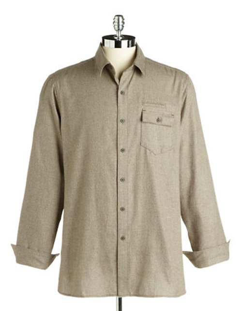 Button-Down Cotton Shirt by Black Brown 1826 in The Best of Me