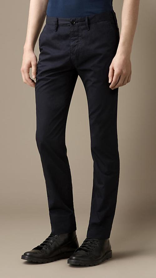 Slim Fit Cotton Twill Chinos by BURBERRY in This Is Where I Leave You