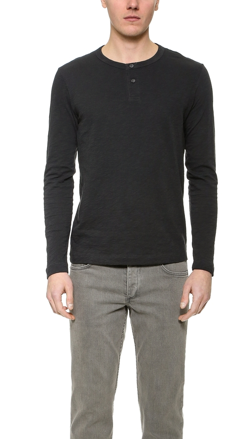 Nebulous Slub Henley Shirt by Theory in The Martian