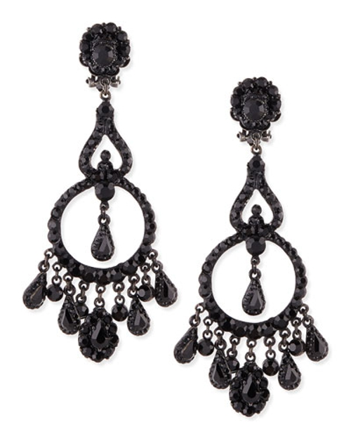 Jet Black Chandelier Clip-On Earrings by Jose & Maria Barrera in Sex and the City 2