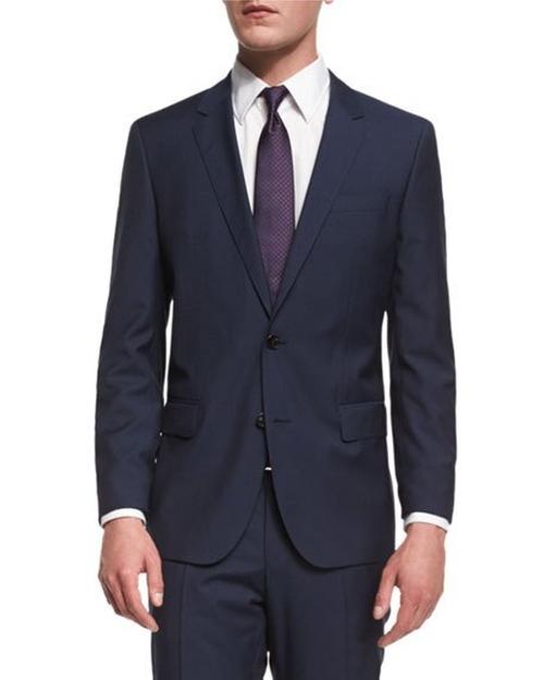 Huge Genius Slim-Fit Basic Suit by Boss Hugo Boss in The Bachelorette - Season 12 Episode 9