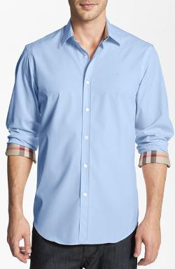 'Henry' Classic Fit Cotton Blend Sport Shirt by BURBERRY BRIT in This Is Where I Leave You