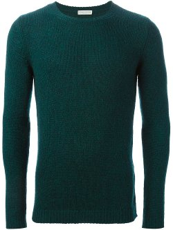 Crew Neck Fitted Sweater by Roberto Collina in Fifty Shades of Grey