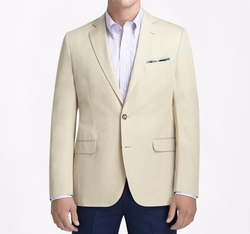 Cotton And Linen Sport Coat by Brooks Brothers in Urge