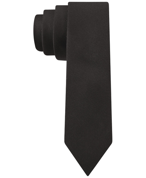 Oxford Skinny Tie by Calvin Klein in Legend