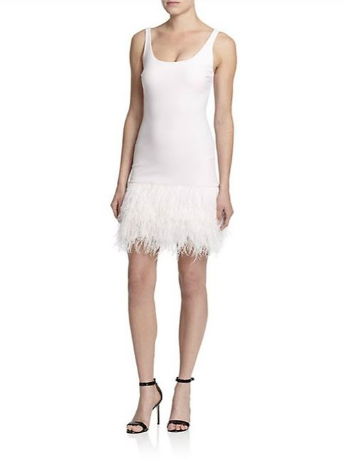 India Feather-Hem Dress by Elizabeth and James in Scream Queens - Season 1 Episode 1