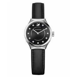 Swiss Dreamy Leather Strap Watch by Swarovski in Rosewood