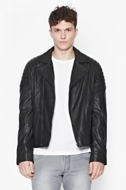 Hell For Leather Biker Jacket by French Connection in Run All Night