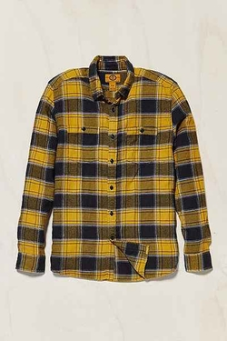 Stapleford Kettle Plaid Flannel Button-Down Shirt by Urban Outfitters in The Big Bang Theory