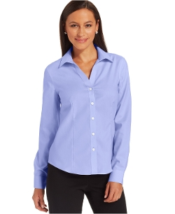 Easy-Care Button-Down Cotton Shirt by Jones New York in The Visit