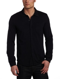 Men's Classic Jersey Long Sleeve Button Down Shirt by Mod-O-Doc in While We're Young