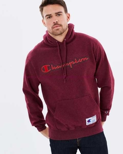 Bordeaux Retro Graphic Hoodie by Champion in Keeping Up With The Kardashians