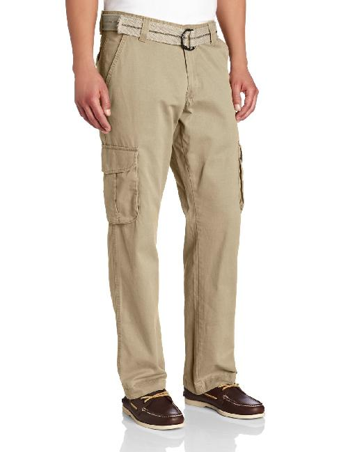 Men's Relaxed Fit Utility Belted Cargo Pants by Lee in Blended