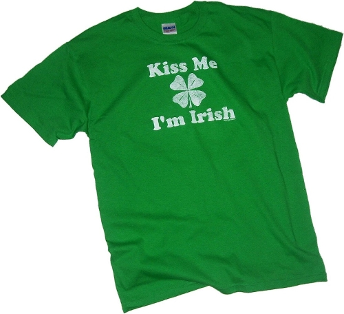 Kiss Me I'm Irish Print T-Shirt by St. Patrick's Day in Twilight