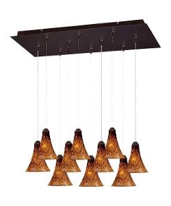 Multi-Light Pendant Lighting by Et2 Lighting in Ex Machina