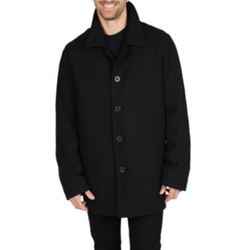Wool-Blend Car Coat by Excelled in Krampus