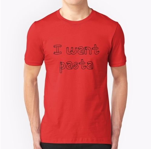 I Want Pasta T-Shirt by Redbubble in Master of None - Season 2 Episode 9