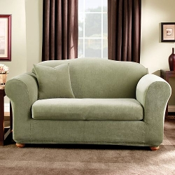 Striped Loveseat Slipcover Sofa by Sure Fit in Fight Club