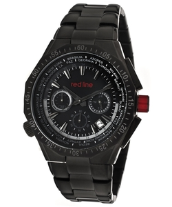 Stainless Steel Black Dial Wrist Watch by Red Line in Elementary
