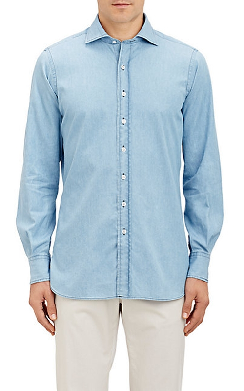 Chambray Dress Shirt by Drake's in X-Men: Apocalypse