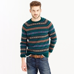 Lambswool Fair Isle Sweater by J.Crew in Christmas Vacation