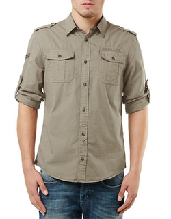 Sigma Button Down Sport Shirt by Buffalo David Bitton in Knocked Up