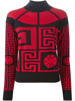 '#Greek' Sweater With A Cut Out Detail by Versace in Empire