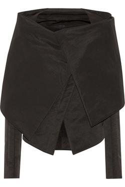 Cape-Effect Cotton-Blend Faille Jacket by Gareth Pugh in Suits