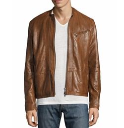 Laser-Cut Leather Racer Jacket by John Varvatos Star USA in Shadowhunters