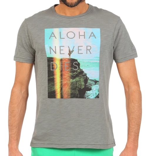 Aloha Never Dies Photographic Print T-Shirt by Sundek in Modern Family - Season 8 Episode 3