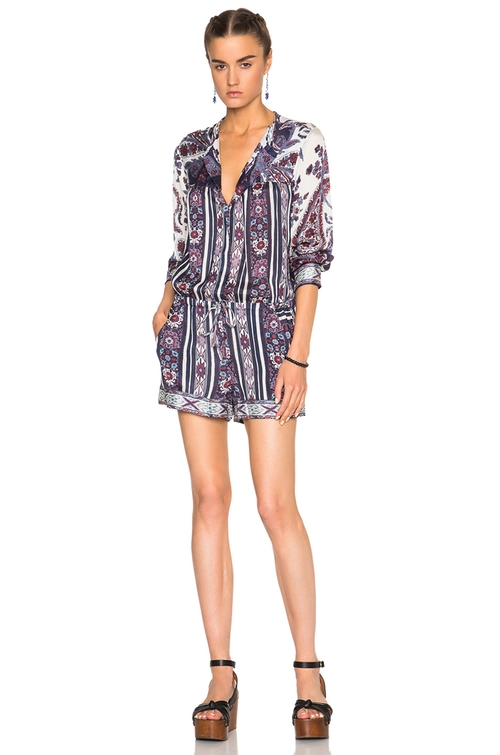 Tayler Paisley Print Romper by Isabel Marant Etoile  in The Bachelorette - Season 12 Episode 8