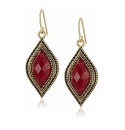 Bordeaux Drop Earrings by Barse in Bad Moms
