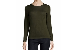 Superfine Cashmere Modern Crewneck Sweater by Neiman Marcus Cashmere Collection in Animal Kingdom
