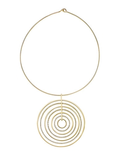Brilliance Statement Pavé Pendant Collar Necklace by Michael Kors in Empire