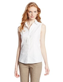 Women's Sleeveless Oxford Shirt by Foxcroft in (500) Days of Summer