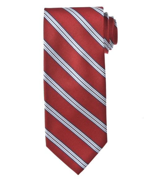 Triple Repp Stripe Tie by Jos. A. Bank in Cut Bank