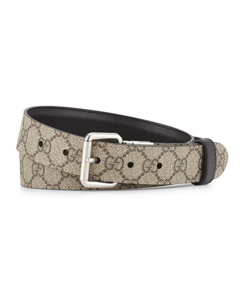 GG Monogram Reversible Belt by Gucci in Urge