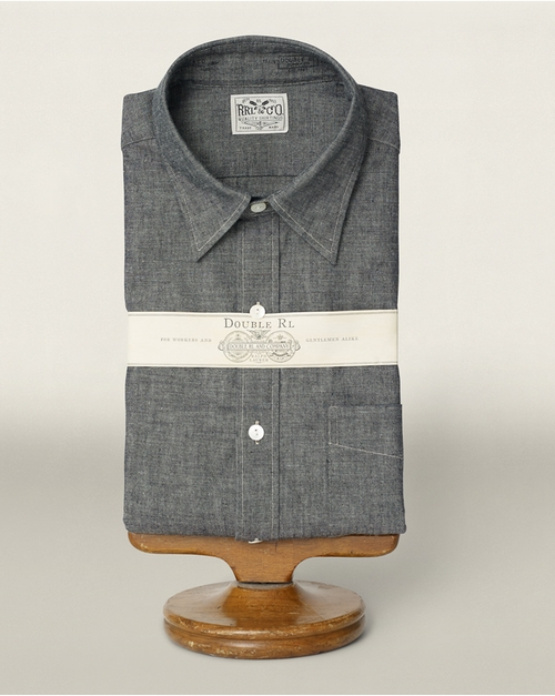 Chambray Dress Shirt by Ralph Lauren in Scandal - Season 5 Episode 1