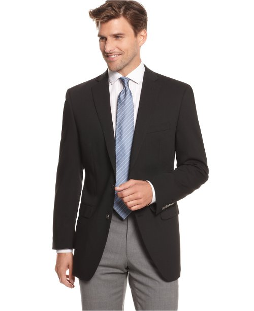 Blazer Two Metal Button Stretch Wool Jacket by Calvin Klein in The Divergent Series: Insurgent